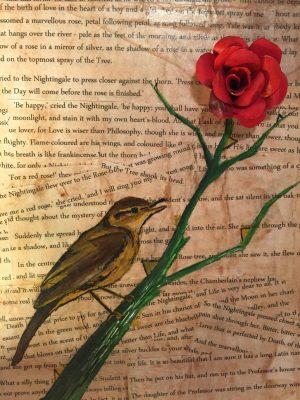 burung bulbul dan mawar